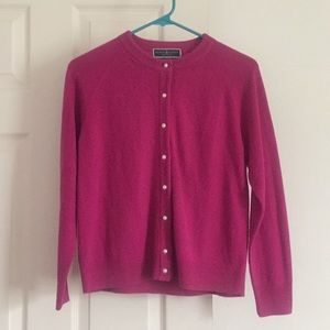 Pink / Fuchsia Button-up Sweater or Cardigan